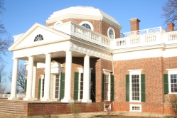 West front portico (Parlor) and hexagonal dome