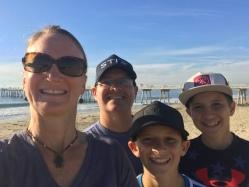 My family at Hermosa Beach
