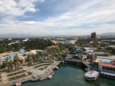 Overlooking California Adventure from Mickey's Wheel