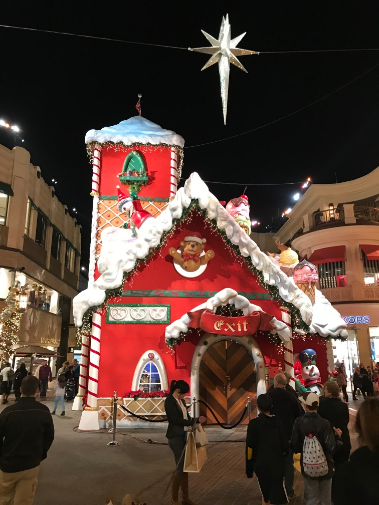 Gingerbread house at the Grove