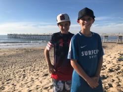 The boys on Hermosa Beach