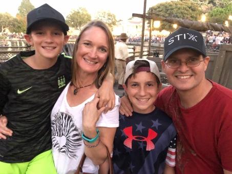 Family at Disneyland