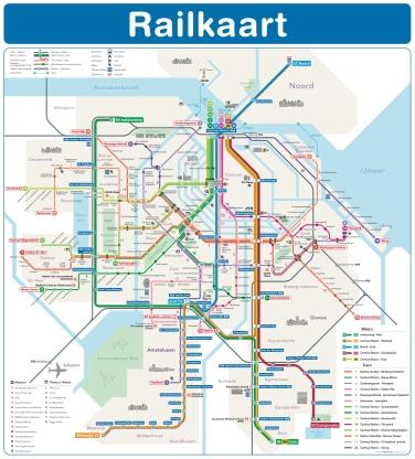 Amsterdam Tram/Metro Map