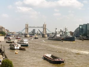 Tower Bridge over the Thames River