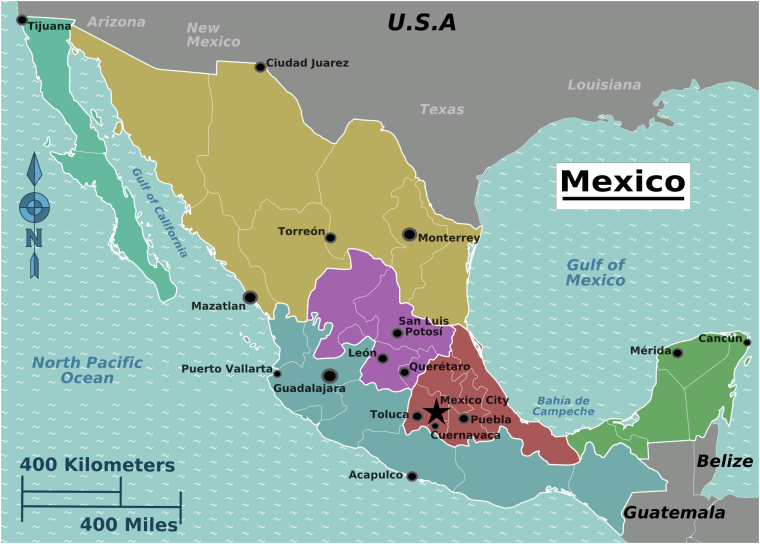 Regions of Mexico