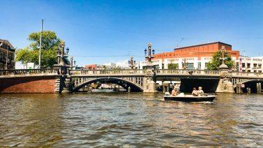 Blauwbrug Bridge on the Amstel River