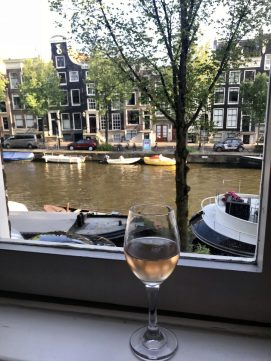 Enjoying the view of the canal
