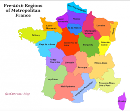 Pre-2016 Regions of France