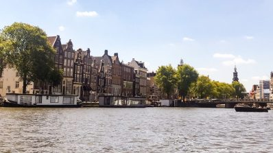 Dutch homes on the Amstel River