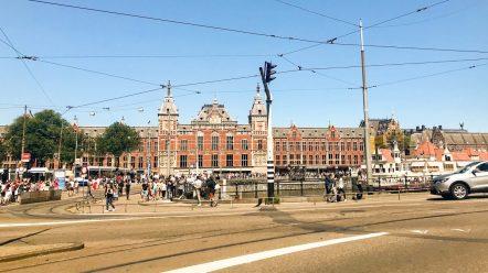 Tram stops at Amsterdam Centraal