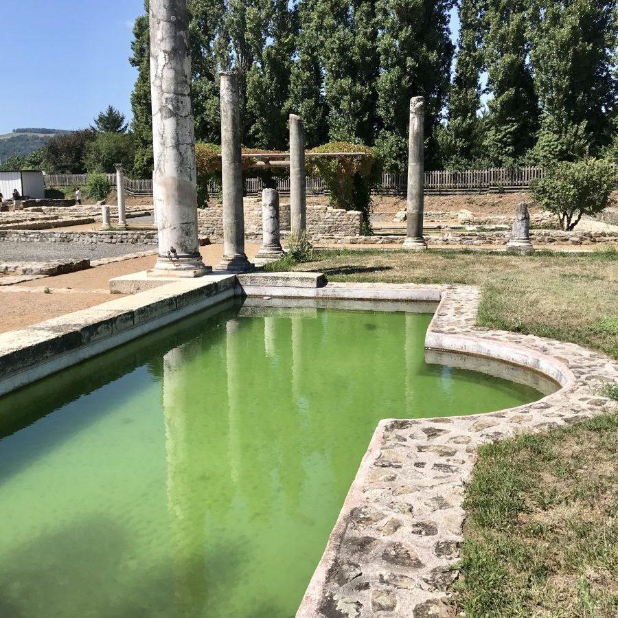 Vienne, Auvergne-Rhône-Alpes, France – Gallo-Roman ruins and pool