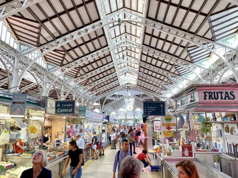 Valencia Spain Mercado Central interior