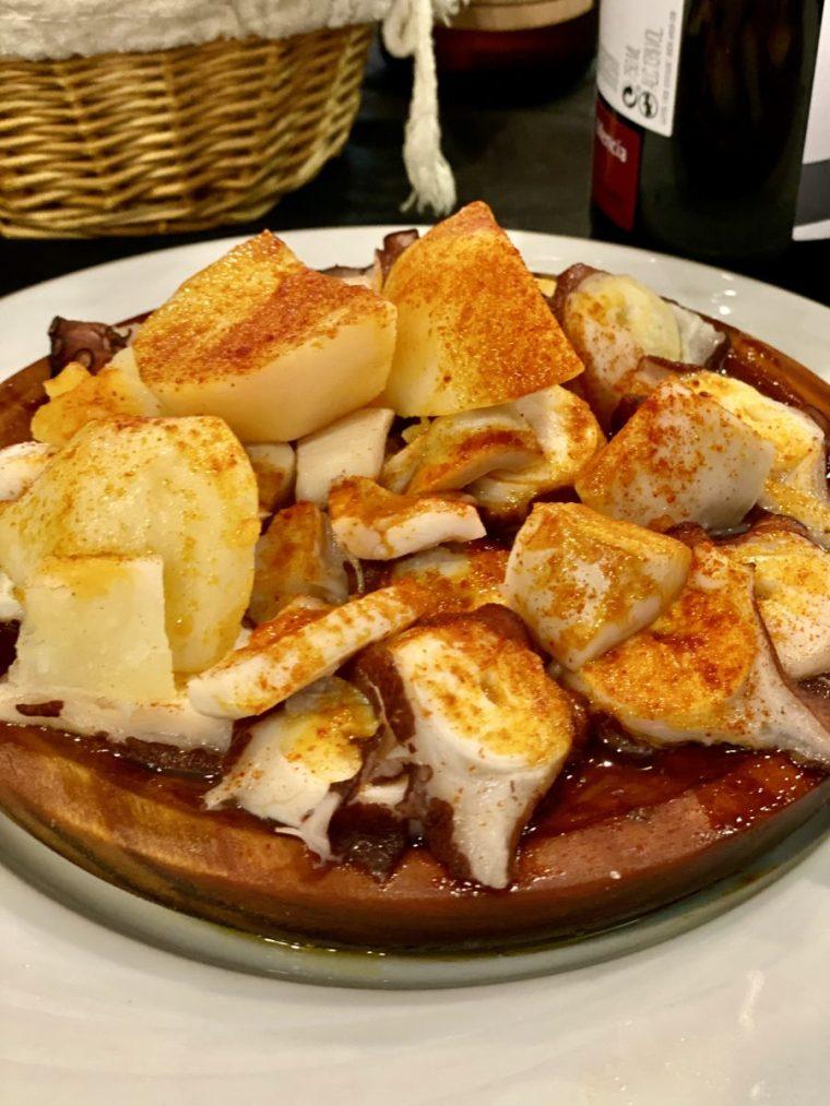 Valencia Spain pulpo y patatas
