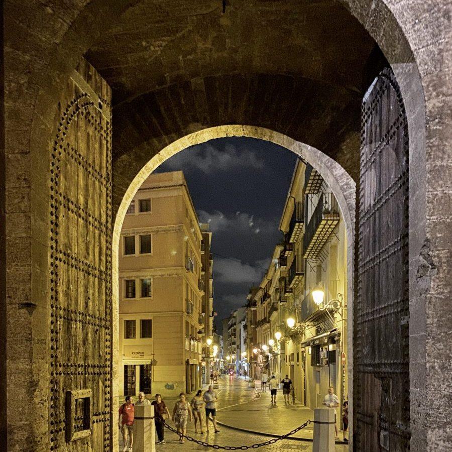 Valencia, Spain – Torres de Quart night