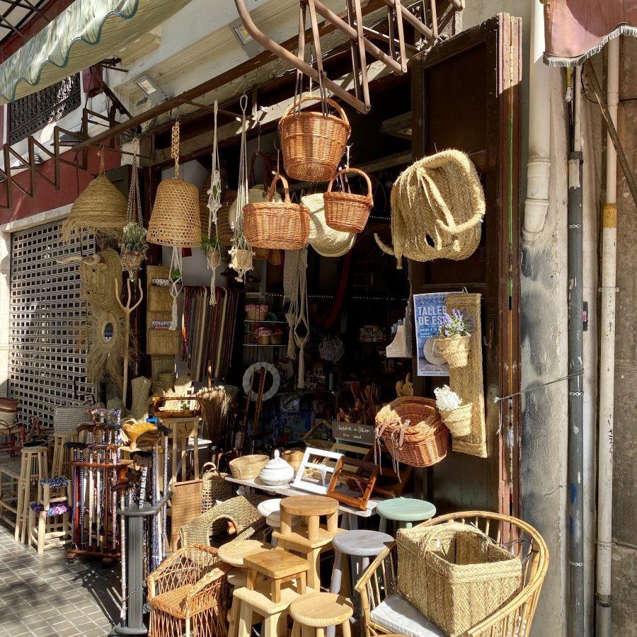 Valencia, Spain – wicker market