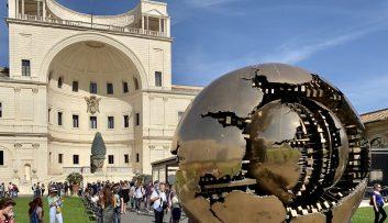 Vatican City - museum courtyard