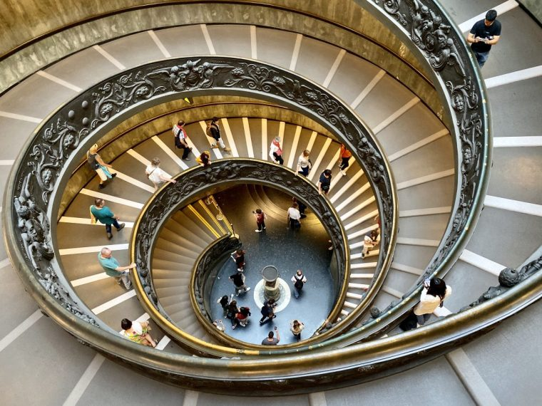 Vatican City - museum double helix stair