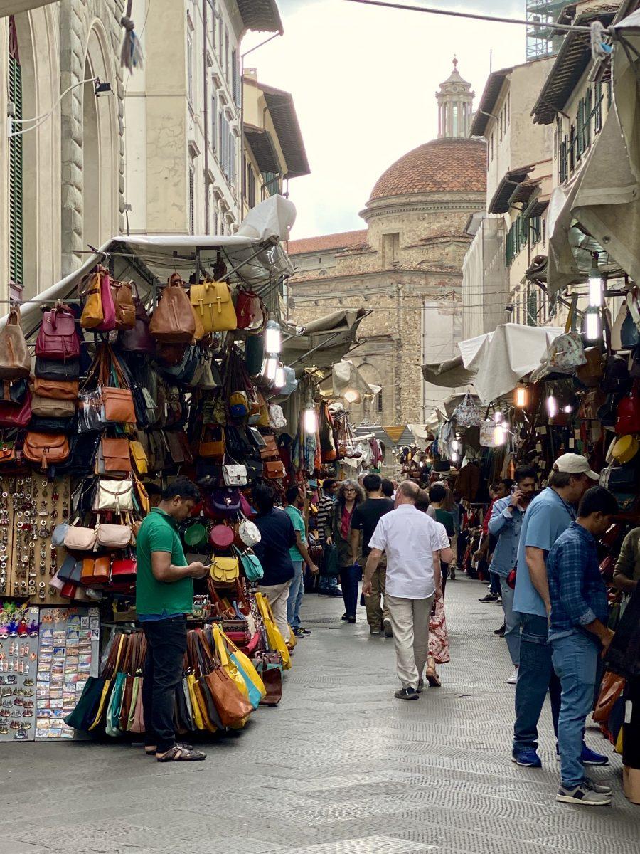 Florence, Italy – Via dell'Ariento market