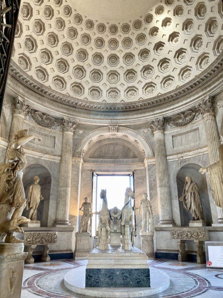 Vatican City – museum rotunda Sala della Biga