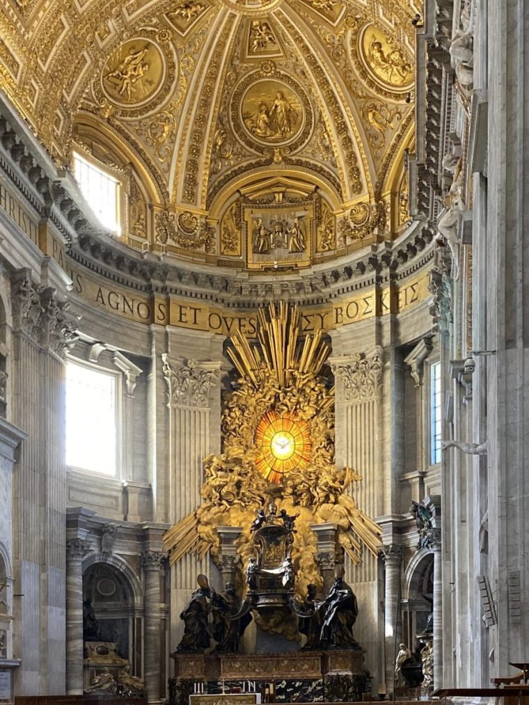 Vatican City – St Peter's Basilica Altar of the Chair