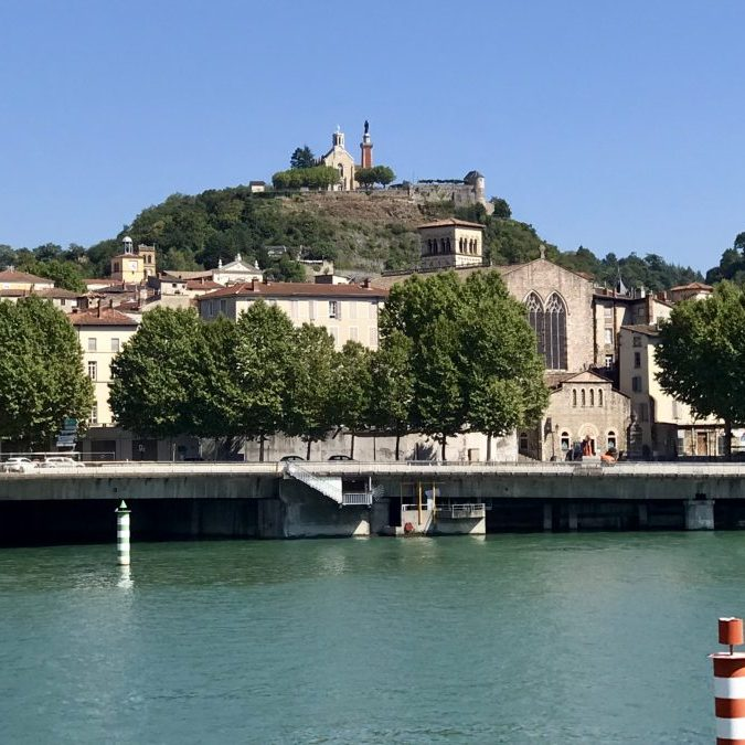 Vienne, France – Chapelle Notre Dame over Rhône