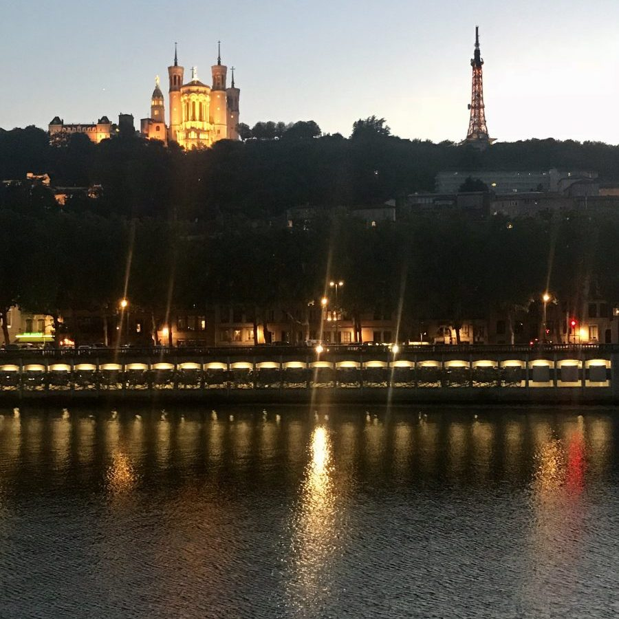 Lyon, France – Fourvière over the Saône