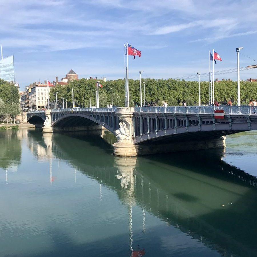 Lyon, France – Rhône Pont Lafayette