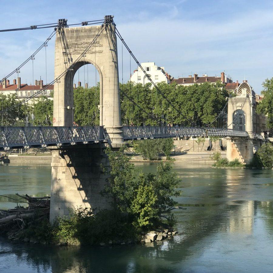 Lyon, France – Rhône Passerelle du Collège