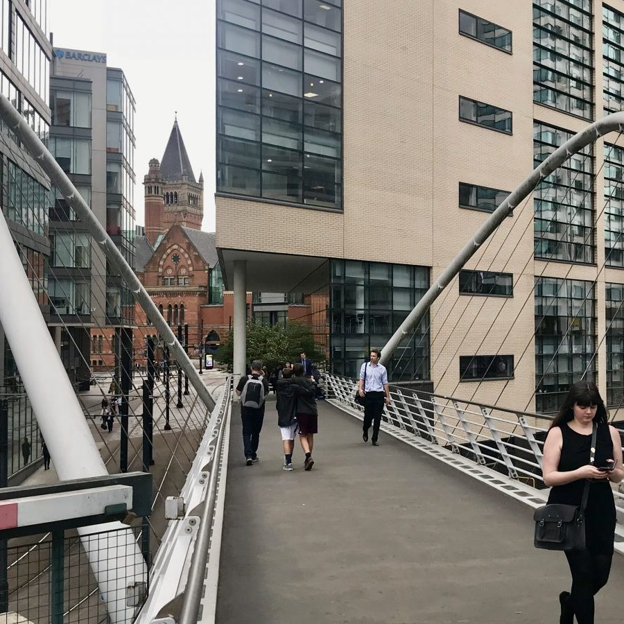 Manchester, England – Piccadilly footbridge