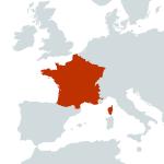 France-world map