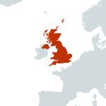 UK-world map